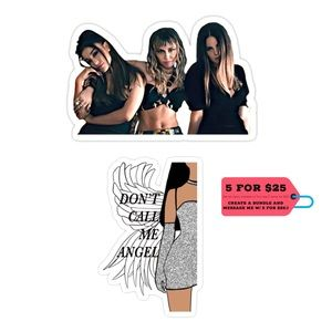 Accessories - NWT Set of 2 'Don't Call Me Angel' Vinyl Stickers